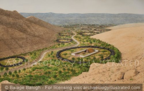 The Oasis of Kadesh Barnea with the Tabernacle. Sinai Desert. Place of Israelite Sojourn after the Exodus - Archaeology Illustrated