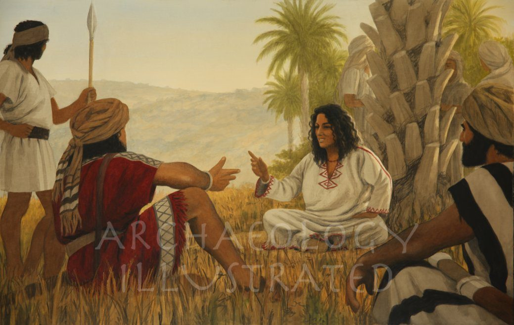 The Prophetess Deborah and Commander Barak Discussing Strategy - Archaeology Illustrated