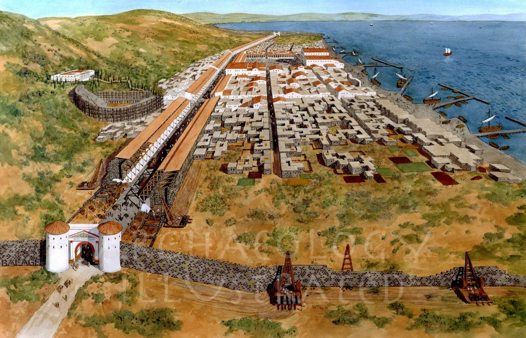 Tiberias on the Sea of Galilee, Israel, 1st century AD - Archaeology Illustrated