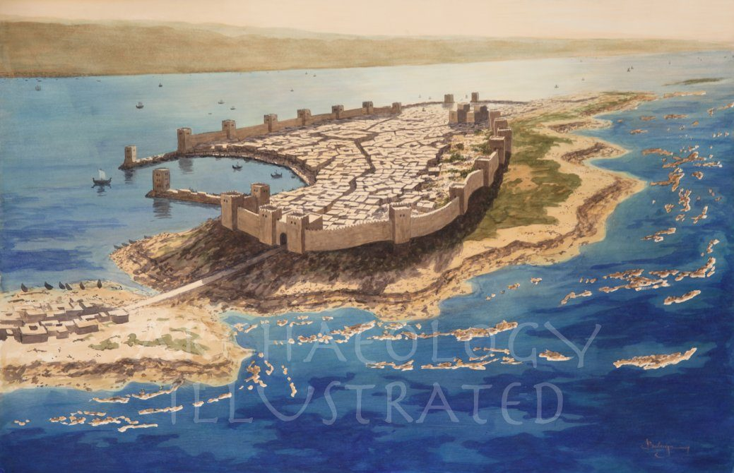 Tyre on the Phoenician Coast, 8th century BC - Archaeology Illustrated