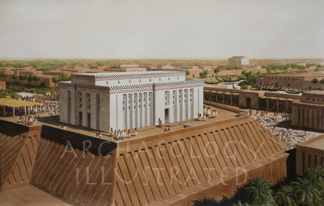 """Uruk, Southern Iraq, The so-called """"White Temple"""" 3000 BC - Archaeology Illustrated"""