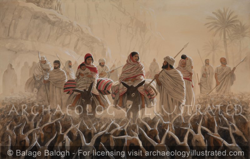 Abraham, Sarah and Hagar. The Hebrew Family on the Move - Archaeology Illustrated