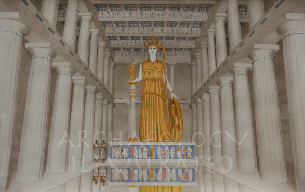 Athens, Acropolis. The Interior of the Parthenon - Archaeology Illustrated
