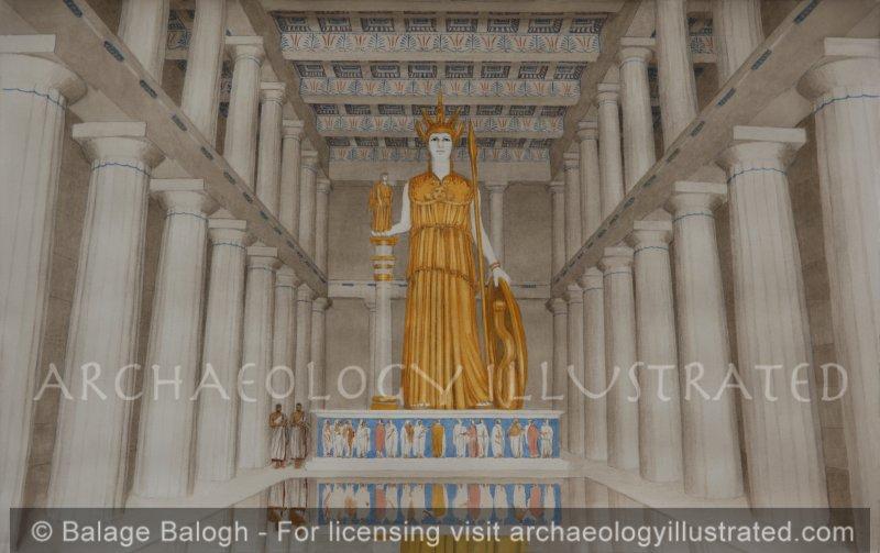 Athens, Acropolis. The Interior of the Parthenon - Archaeology Illustrated