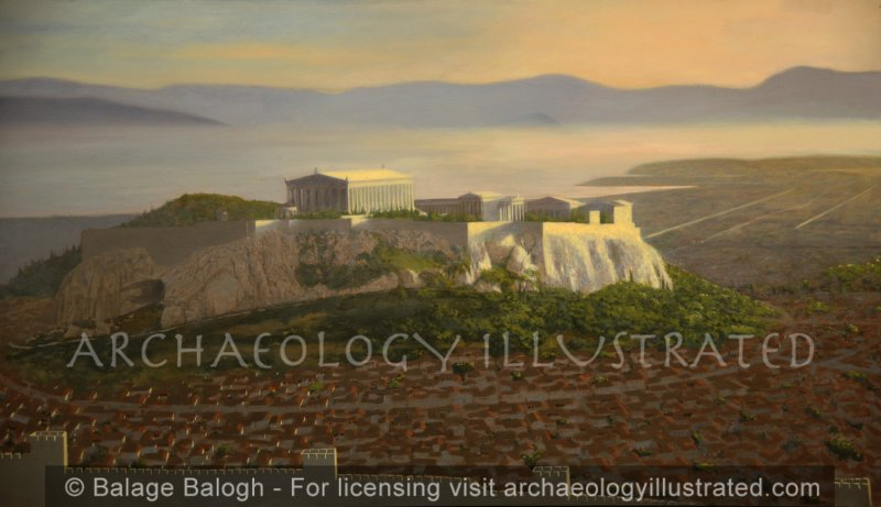 Athens, Acropolis. View from North - Archaeology Illustrated