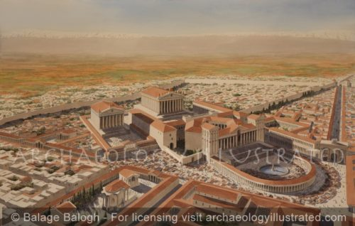 Baalbek, Lebanon, The Temple of Bacchus and The temple Zeus, 3rd century AD - Archaeology Illustrated