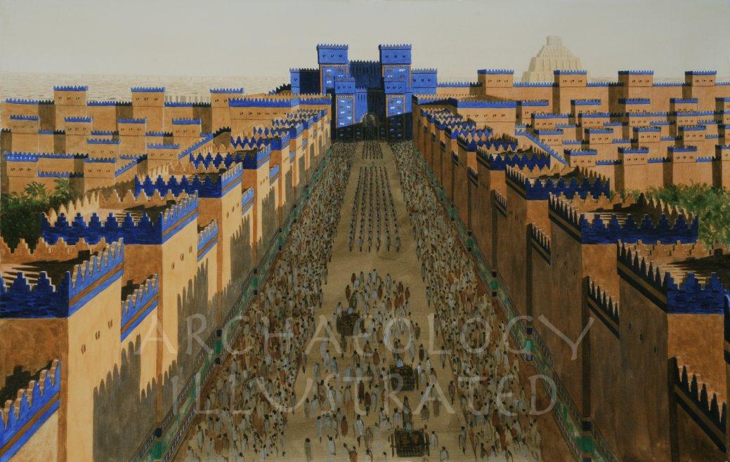 babylon ishtar gate and processional avenue 6th century bc