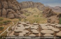 Beidha, Jordan. A Pre-Pottery Neolithic Settlement. Around 8000BC - Archaeology Illustrated