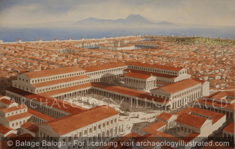 Carthage, Tunisia, Civic Center on the Acropolis, 2nd century AD - Archaeology Illustrated