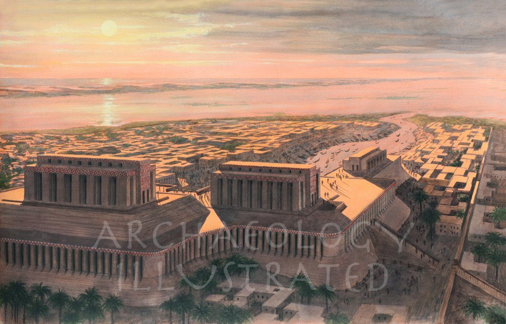 Eridu, Sumer, View towards the Persian Gulf, Around 3200 BC - Archaeology Illustrated