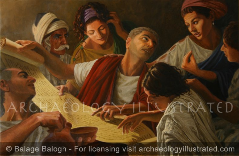 House Church: Early Christians Discussing Scripture - Archaeology Illustrated