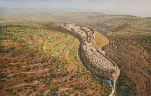 Jerusalem in the Time of King Solomon, Looking North, 10th century BC - Archaeology Illustrated