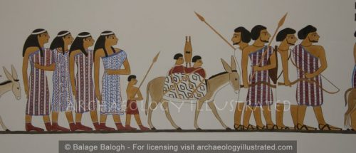 Nomads of the Age of Abraham and Sarah Depicted in the Tomb of Khnumhotep. Around 1860 BC - Archaeology Illustrated