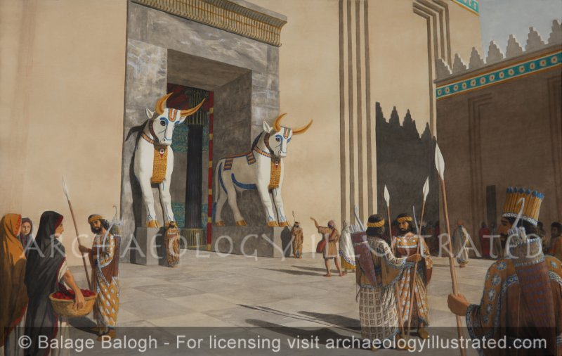 """Persepolis, The """"Gate of All Nations"""" Main Entrance to Palace, 6th century BC - Archaeology Illustrated"""