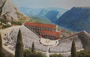 The Theater and the Temple of Apollo in Delphi, Greece. The Most Famous of All Oracles in the Ancient World - Archaeology Illustrated