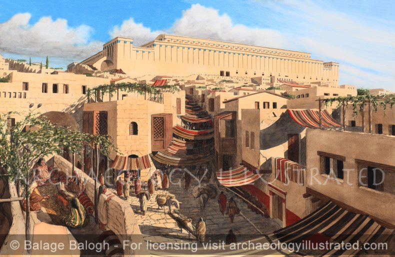 Jerusalem, The North-South Main Street Along the Tyropoeon Valley, 1st century AD - Archaeology Illustrated