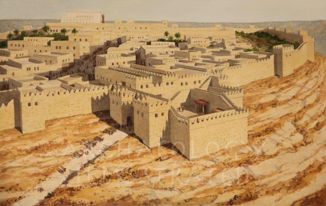 Jerusalem, Water Gate on the Ophel. Looking North. 9-6th Centuries BC - Archaeology Illustrated