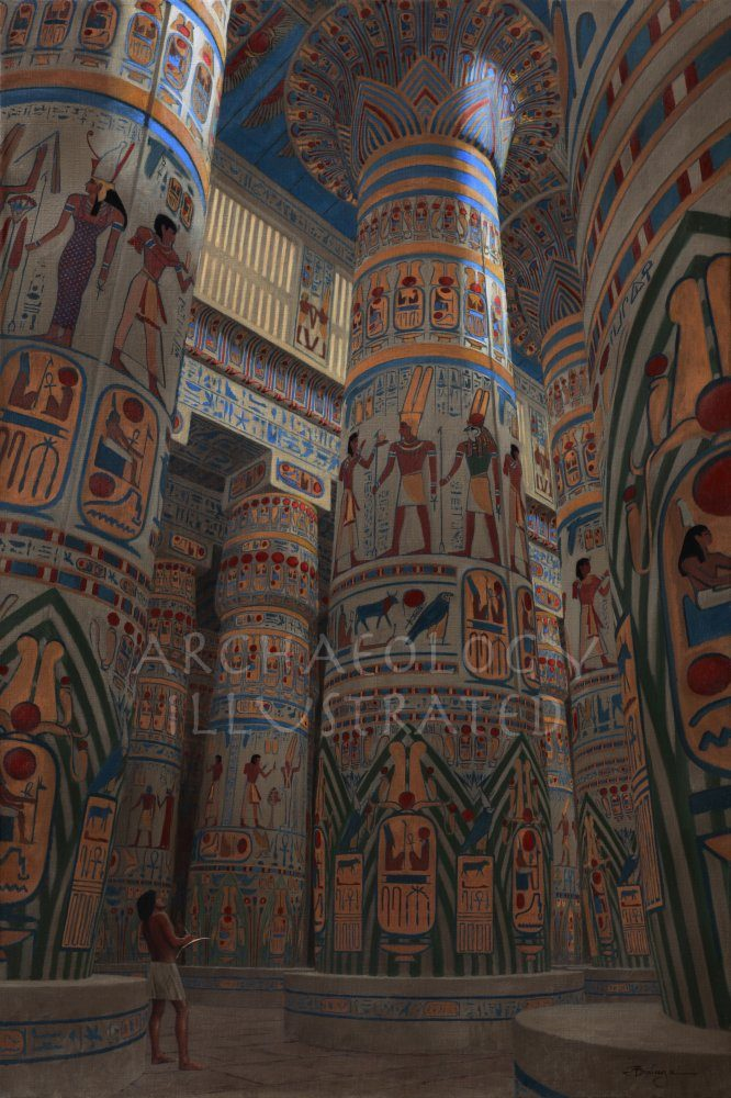 Karnak, Hypostyle Hall of Ramesses II, 13th century BC - Archaeology Illustrated