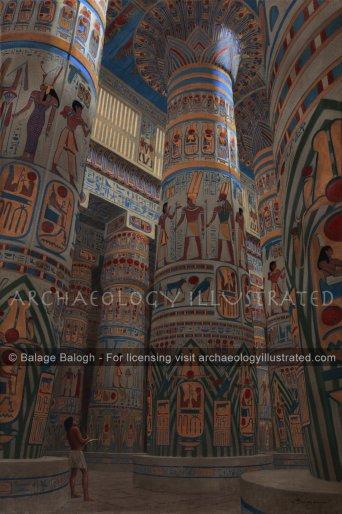 Karnak, Hypostyle Hall of Ramesses II, 13th century BC - Archaeology Illustrated