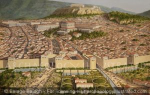 Athens, The Main Entrance through the Double Gates, 2nd century AD - Archaeology Illustrated