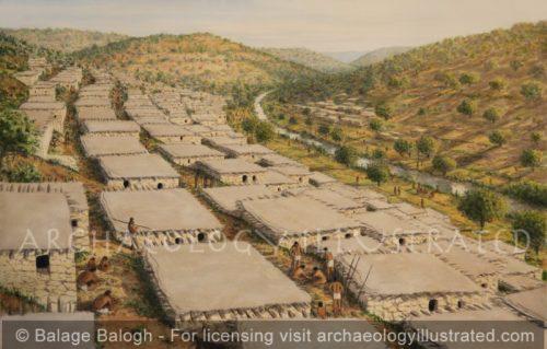 Ayn Ghazal, on the Zarqa River, Northeast of Amman, Jordan. Pre-pottery Neolithic Settlement, 9th -6th millennium BC - Archaeology Illustrated
