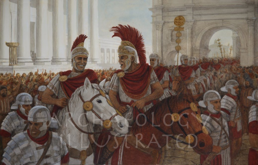 Two Roman Generals Telling Jokes. - Archaeology Illustrated