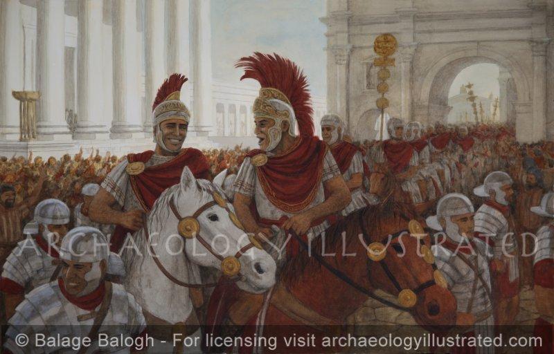 Two Roman Generals Telling Jokes. - Archaeology Illustrated