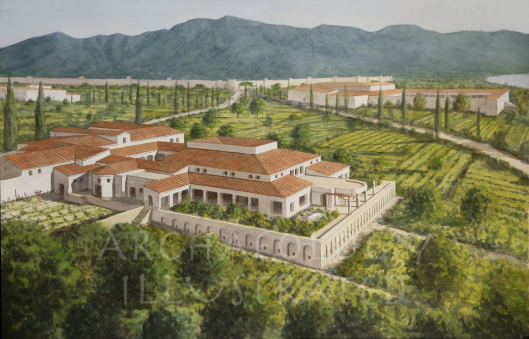 Villa of  the Mysteries, Wealthy Roman Suburban Lifestyle Outside Pompeii, 1st century AD - Archaeology Illustrated