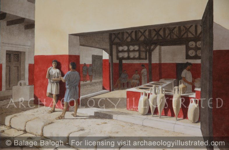 Herculaneum, The so-called Great Taverna, 1st century AD - Archaeology Illustrated