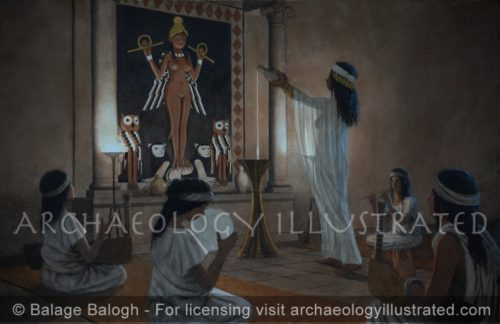 Offering Libations to Lilith, Goddess of the Night in a Mesopotamian Temple - Archaeology Illustrated