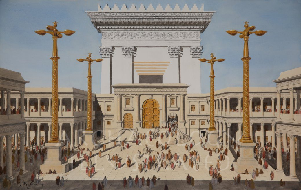 Jerusalem, Herod's Temple, Court of Women, 1st century AD - Archaeology Illustrated