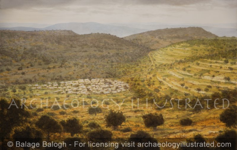Nazareth, Looking Southeast - Archaeology Illustrated