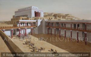Ebla, North Syria, The Palace Court Yard and the Temple of Ishtar on the Acropolis, 19th century BC - Archaeology Illustrated