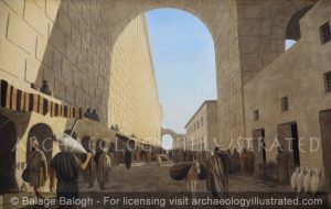 Jerusalem. The Main Street by the Western Wall. 1st century AD - Archaeology Illustrated