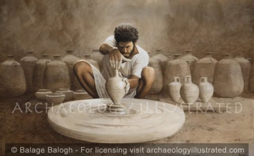 A Jerusalem Potter Making Water Jugs in the 1st century AD - Archaeology Illustrated