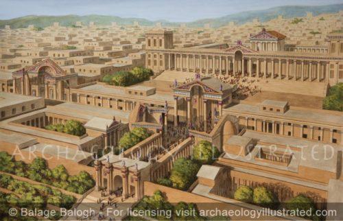 Jerash (Gerasha), Jordan. The Artemis Temple Complex and Grand Entrance, 2nd century AD - Archaeology Illustrated