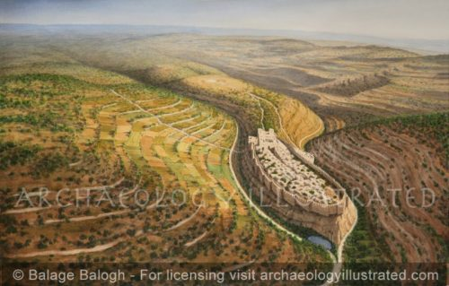 Jerusalem of King David, Looking North, 10th century BC - Archaeology Illustrated