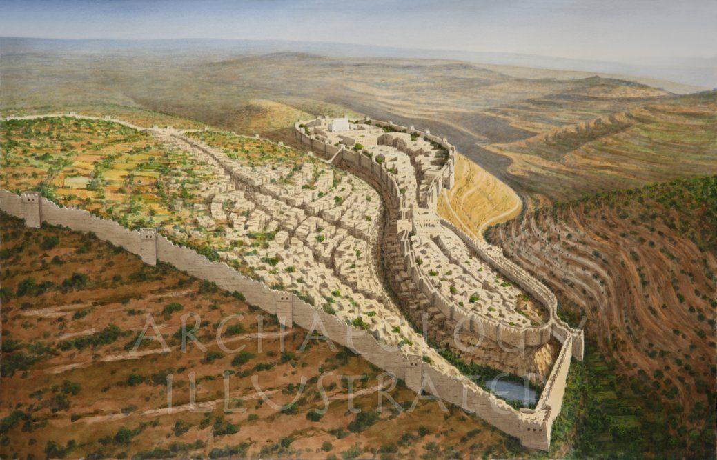Jerusalem of King Hezekiah, Looking North, 8th century BC - Archaeology Illustrated