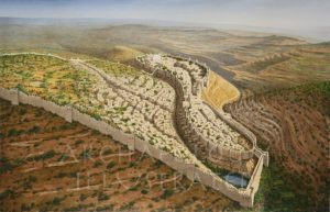Jerusalem of King Hezekiah, Looking North, 8th century BC - Archaeology Illustrated