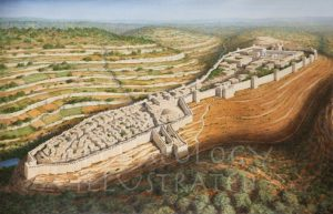 Jerusalem of King Solomon Looking NW, 10th century BC - Archaeology Illustrated