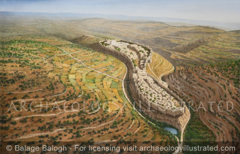 Jerusalem of King Solomon, Looking North, 10th century BC - Archaeology Illustrated