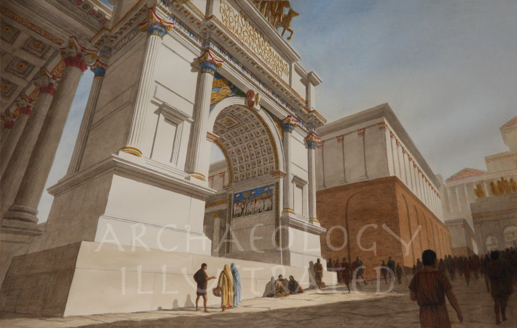 Rome, Arch of Titus with the Menorah Relief - Archaeology Illustrated