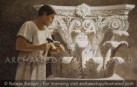 Stone mason at work - Archaeology Illustrated