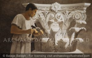 Stone mason at work - Archaeology Illustrated