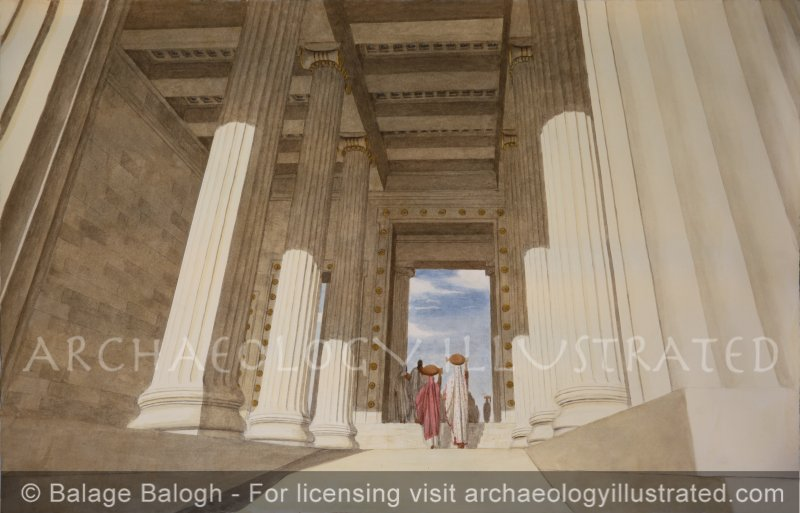 Athens Acropolis. Entering the Propylaea, 430 BC - Archaeology Illustrated