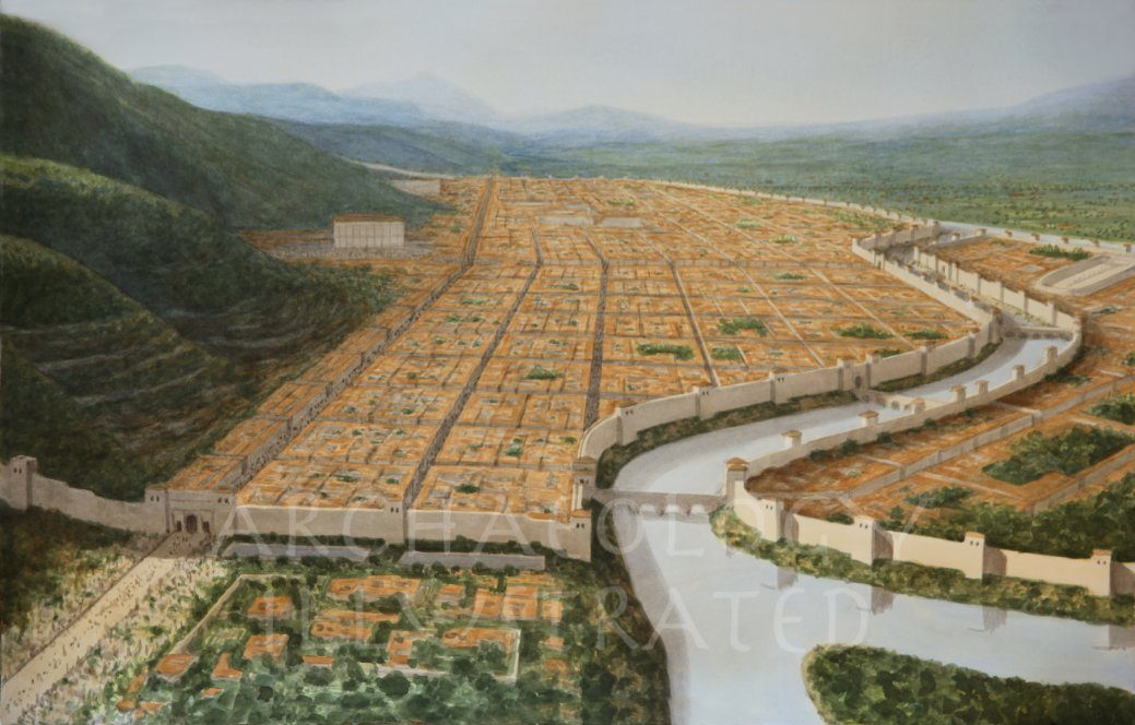 Antioch on the Orontes River in the 1st-2nd century AD, Looking South-West - Archaeology Illustrated
