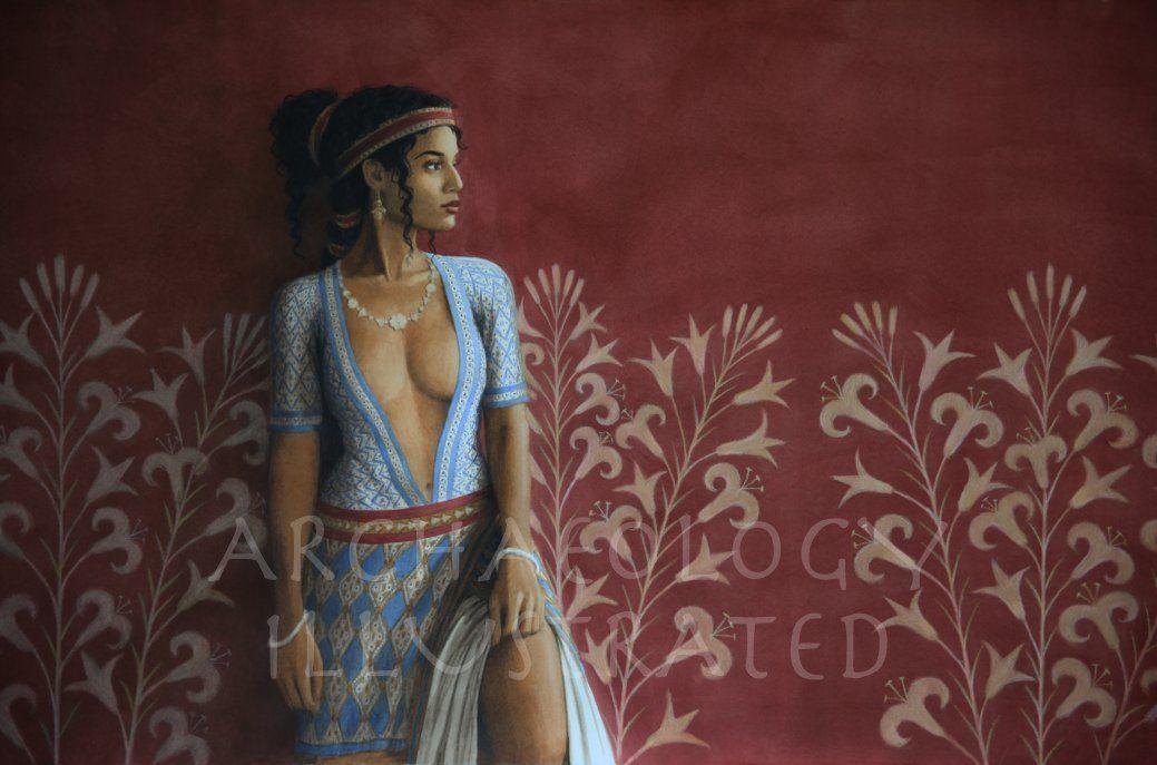 Ariadne, a Minoan Princess. 1400 BC - Archaeology Illustrated