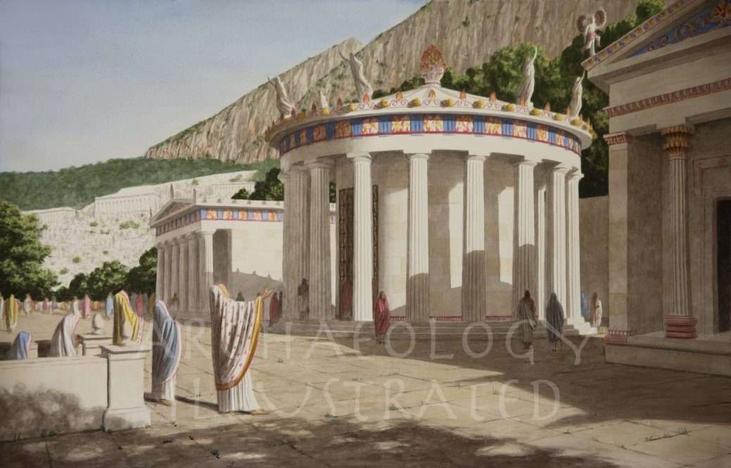 Delphi, the Tholos in the Sanctuary of Athena Pronaia, 380 BC - Archaeology Illustrated