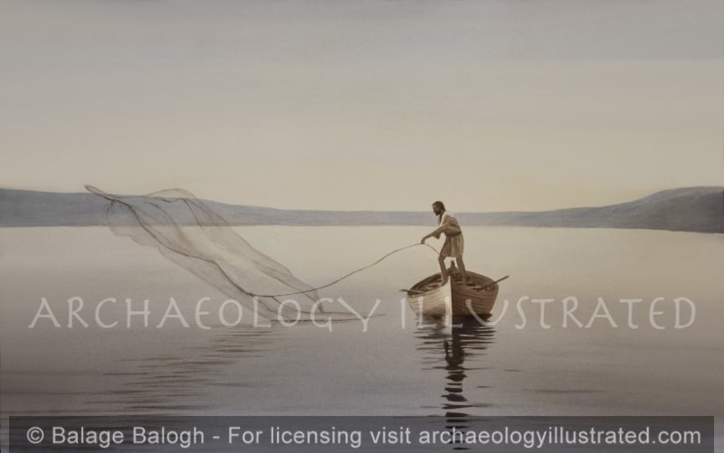 Fisherman on the Sea of Galilee - Archaeology Illustrated