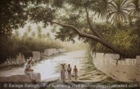 Sumer, Typical Landscape with Canal - Archaeology Illustrated